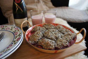 Schnelle Erdbeer-Mohn Biskuits ohne Ei