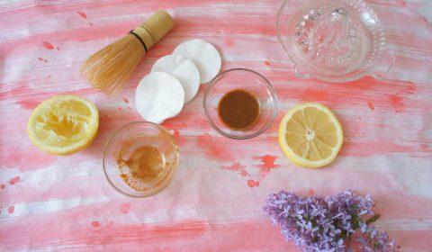 Zimt-Zitrone Gesichtsreinigung
