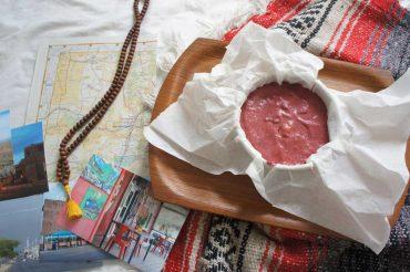 Berry-Coconut Kuchen für unterwegs